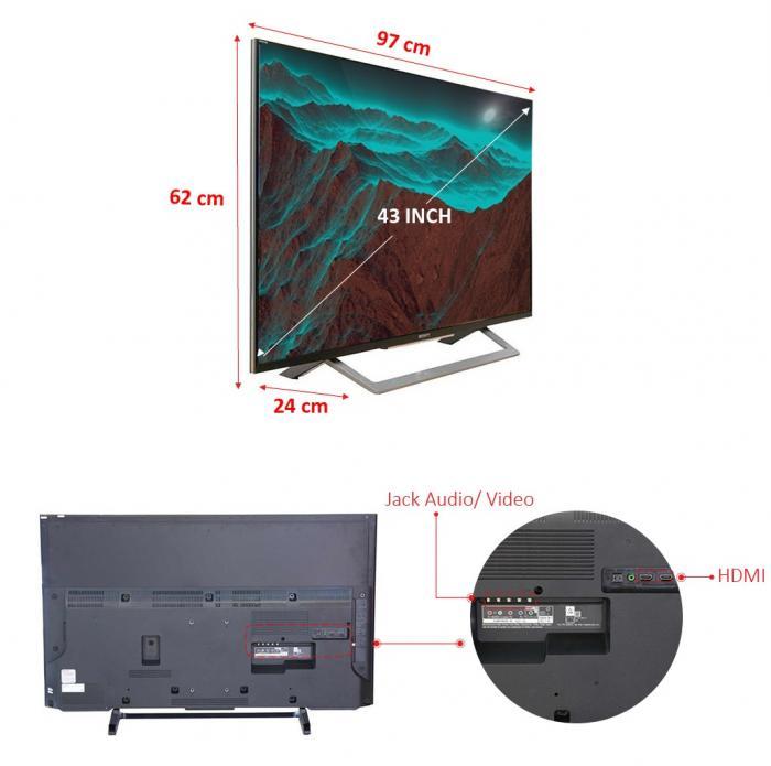Tivi Sony KDL-43X8000E/SVN3